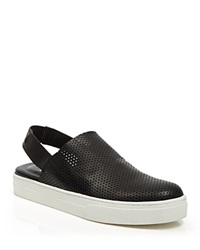 Eileen Fisher Perforated Slingback Sneakers Gogo Black