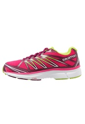 Salomon Xtour 2 Cushioned Running Shoes Hot Pink Mystic Purple Granny Green