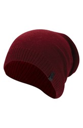 True Religion Men's Brand Jeans Slouch Beanie Red Ox Blood