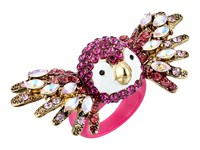 Betsey Johnson Tropical Pave Parrot Ring Fuchsia Ring Pink