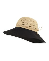 Helen Kaminski Kessy Raffia And Cotton Sun Hat Neutral Pattern