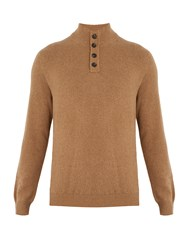 Ermenegildo Zegna Long Sleeved Knit Sweater Beige