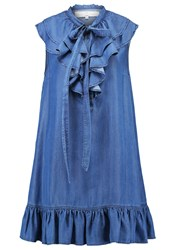 Elisabetta Franchi Summer Dress Blue Vintage Blue Denim
