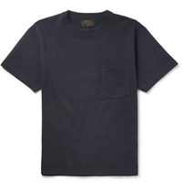 Beams Plus Loopback Cotton Jersey T Shirt Navy