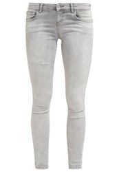 Ltb Clara Slim Fit Jeans Grey Ice Wash Bleached Denim