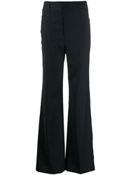 Joseph Striped Flared Trousers Blue