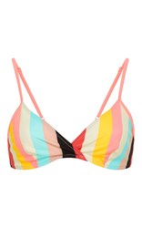 Solid And Striped Brigitte Triangle Bikini Top Stripe