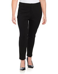 Lord And Taylor Plus Ponte Ankle Pants Black