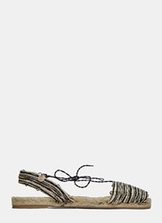 Ball Pages Mixed Home Espadrille Sandals Black