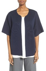 Eileen Fisher Women's Silk And Organic Cotton Cardigan Midnight
