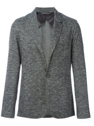 Lanvin Deconstructed One Button Jacket Grey
