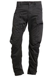 G Star Gstar Powel 3D Tapered Cuffed Cargo Trousers Raven Dark Grey