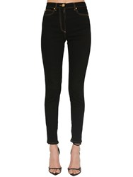 Versace High Waist Skinny Stretch Denim Jeans Black