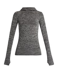 Pepper And Mayne Hooded Compression Performance Top Grey