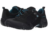 Allrounder By Mephisto Fina Tex Black Rubber G Nubuck Women's Lace Up Casual Shoes