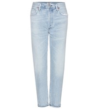 Citizens Of Humanity Liya High Rise Cropped Jeans Blue