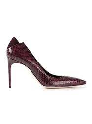 Brian Atwood 'Mercury' Snakeskin Effect Pumps Red