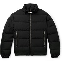 Alyx Leather Trimmed Quilted Faille Down Jacket Black