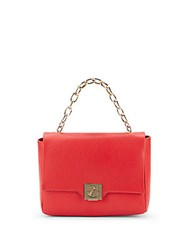 Versace Leather And Goldtone Handbag Red