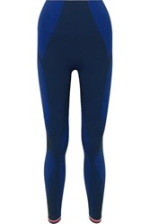 Lndr All Seasons Paneled Stretch Knit Leggings Blue
