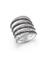 Bloomingdale's Black And White Diamond Micro Pave Ring In 14K White Gold 100 Exclusive Black White