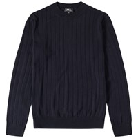 A.P.C. Night Crew Knit Blue