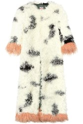 Shrimps Audrey Faux Shearling Coat White