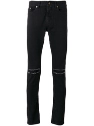 Saint Laurent Low Waisted Skinny Jeans Black