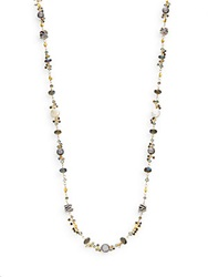 Azaara Semi Precious Multi Stone Mixed Bead Necklace Gold Multi