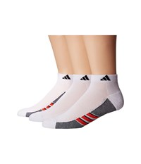 Adidas Climacool Superlite 3 Pack Low Cut Socks White Energy Red Black Men's Low Cut Socks Shoes