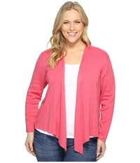 Nic Zoe Plus Size 4 Way Cardy French Rose Women's Sweater Pink