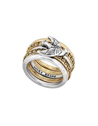 Lucky Brand Sun Kissed Moments Bird Stacked Ring Mixed Metal