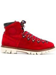 Bally Chack Hiking Boots Red
