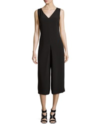 Romeo And Juliet Couture Sleeveless Woven Wide Leg Jumpsuit Black