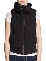 Splendid Stand Collar Vest Black