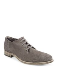 John Varvatos Fleetwood Suede Oxfords Brown