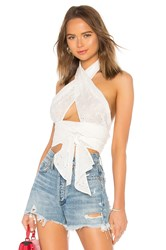 Mds Stripes Everything Scarf Top White