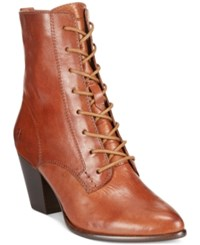 Frye Women's Renee Lace Up Short Boots Women's Shoes Redwood