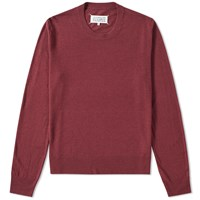 Maison Martin Margiela 14 Elbow Patch Crew Knit Burgundy