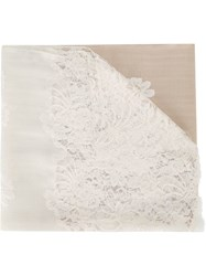 Janavi Lace Panel Scarf Neutrals