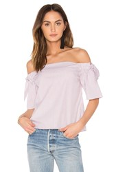 Animale Off Shoulder Top Red