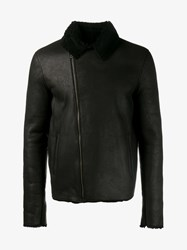 Lot 78 Shearling Lined Leather Jacket Black