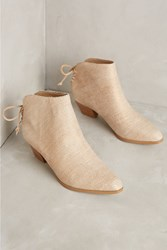 Anthropologie Farylrobin Metallic Linen Boots Neutral