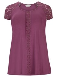 Windsmoor Jersey Lace Tunic Top Magenta