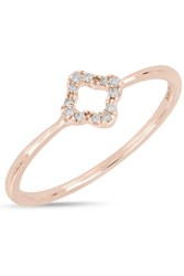 Bony Levy 18K Rose Gold Pave Diamond Open Diamond Ring 0.04 Ctw