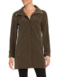 Calvin Klein Plus Packable Rain Coat Green