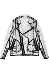 Wanda Nylon Johnny Pu Biker Jacket Black