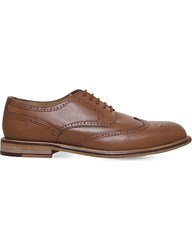 Kg By Kurt Geiger Hatley Leather Brogues Tan