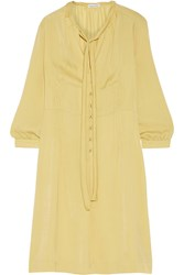 Tomas Maier Washed Satin Dress Yellow