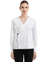 Alyx Wrapped Cotton Blend Shirt Natural